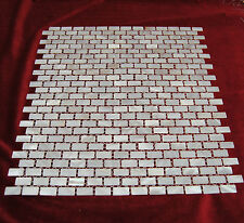 Mother Of Pearl Mosaic Tiles River Bed Nature  Mosaic Rectangle White 10*20 mm