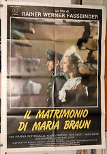 manifesto 2F film IL MATRIMONIO DI MARIA BRAUN - R.W.Fassbinder Hanna Schygulla