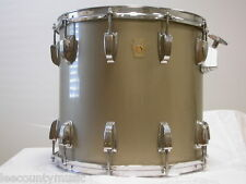 "80's/90's LUDWIG USA 14"" TOM IN LIGHT GOLD for DRUM SET w/ MAPLE SHELL LOT #K616"