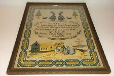 VINTAGE 1917 PF VOLLAND & CO 634M--SAMPLER PRINT OF NEEDLEPOINT WORK