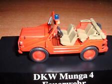 MODEL FIRE FIGHTERS MUNGA DKW 4 - VIGILI FUOCO  POMPIERI - jeep Feuerwehr 1/43