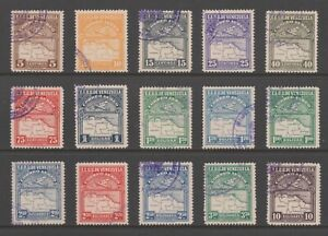 +++ VENEZUELA 1930s AIRMAIL STAMPS - 15 FINE USED VALUES +++