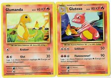 2er Set Glumanda/Glutexo 9,10/108 - Evolution - 2016 - Deutsch - Mint