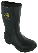 Womens Wellington Dirt Boots Ortholite Pull On Farm Black Waterproof Comfort
