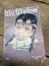 Vintage 1952 (November) Wee Wisdom - A Magazine for Boys and Girls