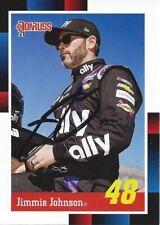AUTOGRAPHED Jimmie Johnson 2021 Donruss 1988 RETRO Signed NASCAR Card with COA