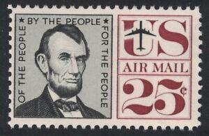 Scott C59- Abraham Lincoln- MNH 25c 1960- unused mint Airmail stamp