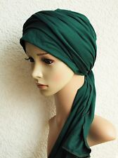 Volume head wear, turban with ties, fashion turban snood, bad hair day turban