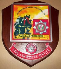 Lothian and Borders Fire and Rescue wall plaque personalised free of charge..