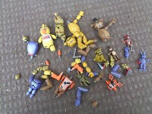 LOT OF FUNKO FIVE KNIGHTS AT FREDDY'S NIGHTMARE ARTICULATED FIGURES SOME DAMAGED