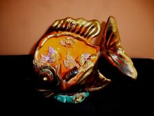LARGE VINTAGE FRENCH VALLAURIS FISH LAMP