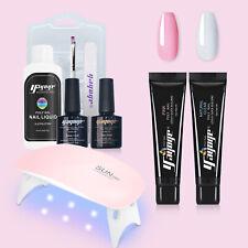 15ml Poly Nagel Gel Set UV Builder Acrylgel Nagel Kit Extension Clear + Pink #DE