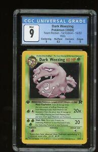 1st Edition Dark Weezing Team Rocket 2000 14/82 #14 HOLO CGC 9 - Pokemon WOTC