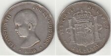 Monnaie 5 Pesetas argent 1889