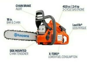 Husqvarna 440 18 in. 40.9cc 2-Cycle Gas Chainsaw BRAND NEW FACTORY SEALED!