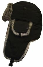 Mens Russian Fleece Trapper Hat Winter Thermal Warm Fake Fur Outdoor Ski Hike