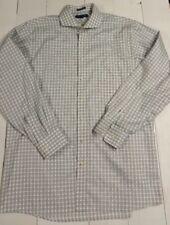 TOMMY HILFIGER NON IRON COTTON DRESS SHIRT Size 36-37 Long Tall 17 1/2 Button
