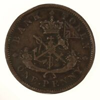 Raw 1837 Canada One Penny Bank Of Upper Canada Token