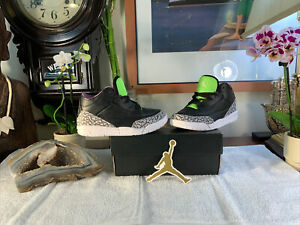 Nike Air Jordan Retro 3 III SE ELECTRIC GREEN Cement Toddler Kids NEW+Box Sz 10c