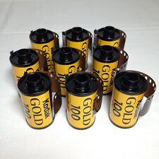 9 x Kodak Gold 100 Film Kleinbildfilm 135 - 24 Farbfilm Foto Photo Lomo FROZEN!