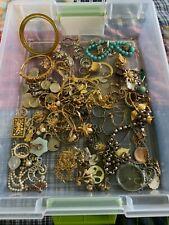 Vintage New Junk Jewelry Lot Necklace, Bracelet, Earrings Estate Fresh!! NR
