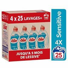 4x1.25L Lessive Liquide Hypoallergénique Marseille&Lait d'Amande Douce 100Lavage