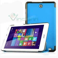 Custodia Smart Cover AZZURRA per Acer Iconia Tab 8 W1-810 case stand nuova