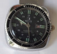 39255905941 Vintage Diver MORTIMA SuperDatomatic 6Atm 100% waterproof French Made  Wristwatch