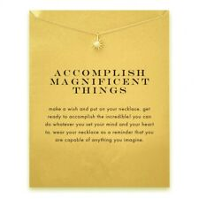 """18K Gold Plated """"Accomplish Magnificent Things"""" Dainty Star Necklace"""