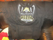 Black WELLINGTON PHOENIX FC Logo Ringer T Shirt XL Hyundai A League New Zealand