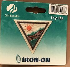 Vintage Girl Scout Outdoor Adventurer Camping IronOn Scouts Collectible Sunshine