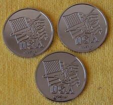 3 42mm Coins for Coin Magic Tricks_Will attract to a Magnet.