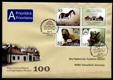 Tiere aus Zoo in Riga. FDC-Brief nach BRD. Lettland 2012