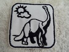 "Brachiosaurus Dinosaur 3-1/2"" Embroidered Iron-on Patch (E20)"