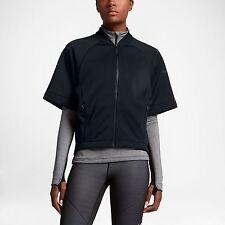 NWT Nike Therma Sphere Short Sleeve Training Top Sz M 100% Auth Black 809262 010
