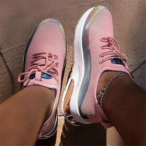 WOMENS Athletic LACE UP School TRAINERS RUNNING SNEAKERS WALKING CASUAL SHOES