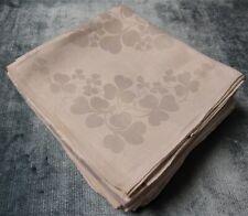 Antique 8 + 1 Linen Damask Lapkins Shamrocks Silky, Heavy Fabric Hand Hemmed