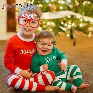 Christmas GLASSES Santa Snowman Snowflake Tree Elk Paper Glasses Lot Cute