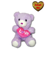 Dan Dee Purple Valentine Sweetheart Teddy Bear Love Heart Stuffed Plush Animal