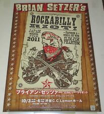 BRIAN SETZER Japan PROMO ONLY 72 x 51 cm TOUR POSTER official 2011 Stray Cats