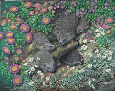 Hedgehog Family 1000 Piece Jigsaw Puzzle