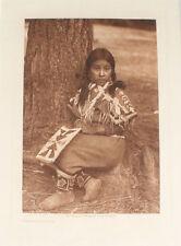 EDWARD S. CURTIS PHOTOGRAVURE UMATILLA CHILD.