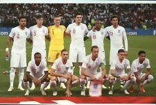 England Nationalmannschaft Weltmeisterschaft 2018 Fussball, Kane etc - Postkarte