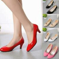 Women's Work Career Wedding Court Shoes Pumps Ladies Low Stiletto Mid High Heels