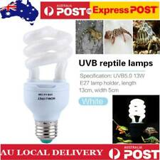 13w 5.0 B E27 Reptile Light Bulb Lamp Vivarium Terrarium Tortoise Turtle Snake