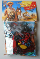 1:32 Wild West Western Cowboys Set Plastic Toy Soldier Figures In Bag