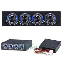 """3.5"""" Bay Panel 4Pcs Computer LED Light Cooling Fan Speed Temperature Controller"""