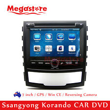 "7"" Car DVD Nav GPS Head Unit Stereo Radio For Ssangyong Korando 2010-2013"