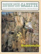 Narrow Gauge Gazette Jul.85 V&T C&C RR Hukill Mine Head Sawmill SP Yosemite Log