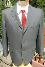 Vintage 1960s 3 Button Sharkskin Blazer Suit Jacket 43S - Alterable Silver-Gray